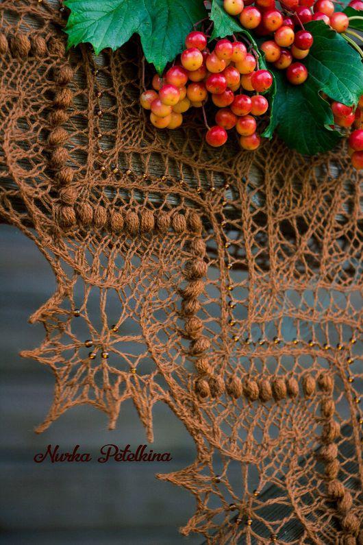 """Шали, палантины ручной работы. Ярмарка Мастеров - ручная работа. Купить Шаль """"Осенний букет"""". Handmade. Шаль, шаль из шерсти"""