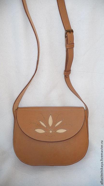 Женские сумки ручной работы. Ярмарка Мастеров - ручная работа. Купить Сумка. Handmade. Бежевый, натуральная кожа, кожа натуральная