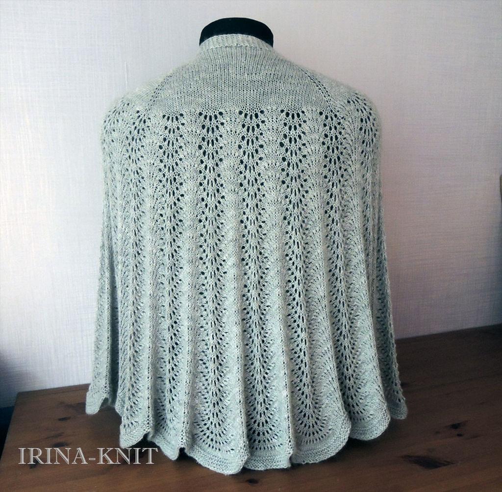 Danish shawl gray fishnet 2 – shop online on Livemaster with ...