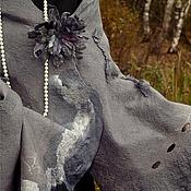 """Аксессуары ручной работы. Ярмарка Мастеров - ручная работа Подарок девушке  валяный палантин ручной работы  """"Элегантный серый"""".. Handmade."""