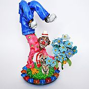 Подарки к праздникам ручной работы. Ярмарка Мастеров - ручная работа Клоун с собачкой. Handmade.