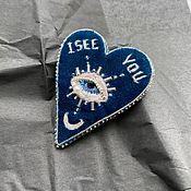 Украшения handmade. Livemaster - original item Velvet Heart brooch