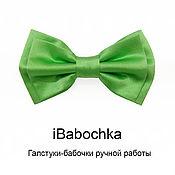 Аксессуары ручной работы. Ярмарка Мастеров - ручная работа Зеленый галстук-бабочка iGreen. Handmade.