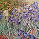 Картины цветов ручной работы. Ярмарка Мастеров - ручная работа. Купить Копия Ван Гог Ирисы картина маслом. Handmade.