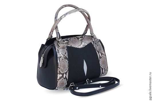 Сумка из ската, сумка из змеи, женская сумка, подарок женщине, кожаная сумка, сумка из кожи