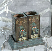 handmade. Livemaster - original item Candlesticks from the collection of Snowmen. Handmade.