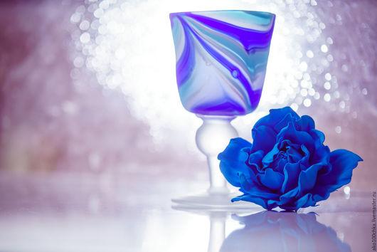 """Броши ручной работы. Ярмарка Мастеров - ручная работа. Купить Брошь """"Синяя роза"""". Handmade. Роза, брошь-цветок"""