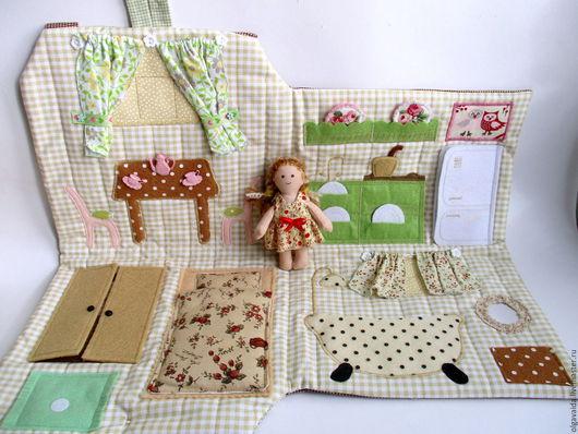 Игровой домик-сумочка для куколки коричневый Ольга Вайда  купить Ярмарка мастеров ручная работа handmade Vayda