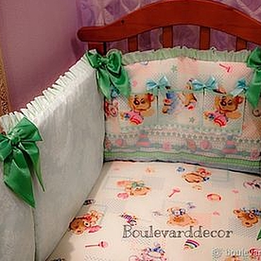 Works for children handmade. Livemaster - original item Copy of The sides (bumpers) in a cot for newborn. Handmade.