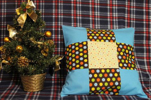 Текстиль, ковры ручной работы. Ярмарка Мастеров - ручная работа. Купить Декоративная наволочка для диванной подушки. Handmade. Комбинированный
