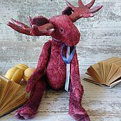 Куклы и игрушки handmade. Livemaster - original item Teddy Moose. Handmade.