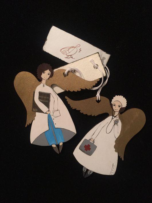 Персональные подарки ручной работы. Ярмарка Мастеров - ручная работа. Купить Ангелы-медики. Handmade. Ангел, ангелочки, украшение, медик
