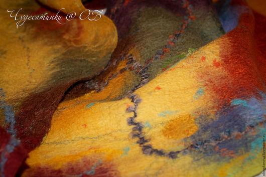 """Шарфы и шарфики ручной работы. Ярмарка Мастеров - ручная работа. Купить Шарф """"Осенняя медитация"""". Handmade. Абстрактный, шарф, вискоза"""