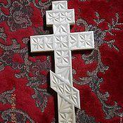 Подарки к праздникам ручной работы. Ярмарка Мастеров - ручная работа крестик православный деревянный. Handmade.