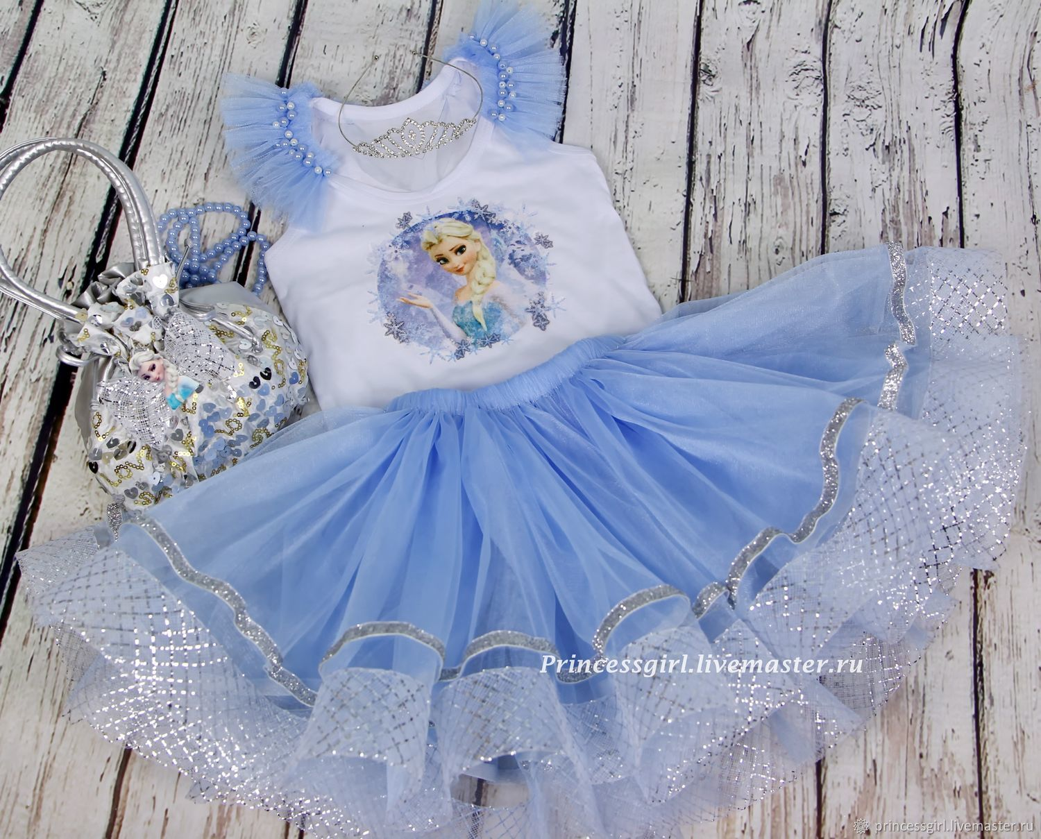 Costume Elsa frozen, Carnival costumes for children, Moscow,  Фото №1