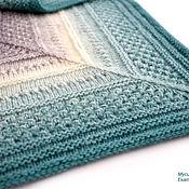 Аксессуары handmade. Livemaster - original item Bactus knitted turquoise openwork