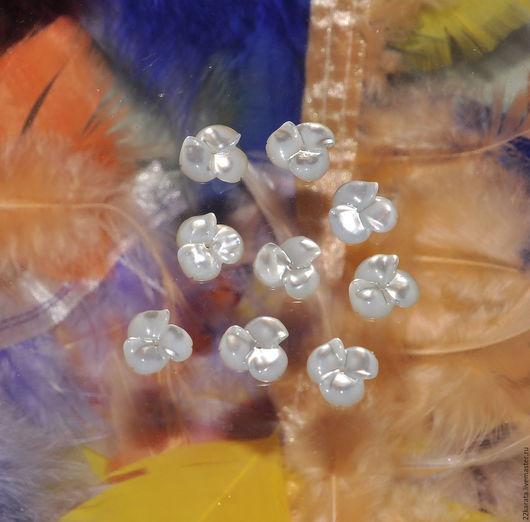 Для украшений ручной работы. Ярмарка Мастеров - ручная работа. Купить Перламутр белый, Цветок № 126. Handmade. Белый