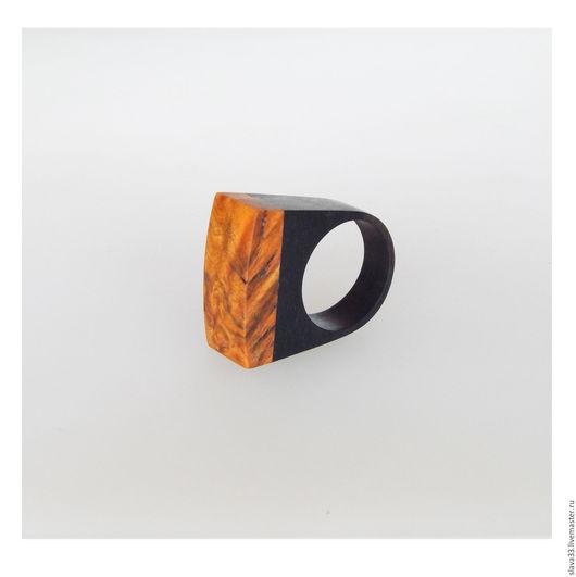 Кольца ручной работы. Ярмарка Мастеров - ручная работа. Купить Яркое стильное кольцо из дерева.. Handmade. Комбинированный, кольцо в подарок