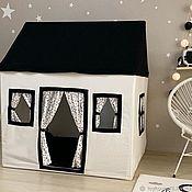"""Домики ручной работы. Ярмарка Мастеров - ручная работа Детский домик-палатка """"Simple black"""". Handmade."""
