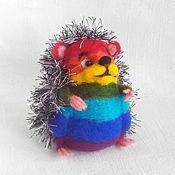 Куклы и игрушки ручной работы. Ярмарка Мастеров - ручная работа Радужный ёжик. Handmade.