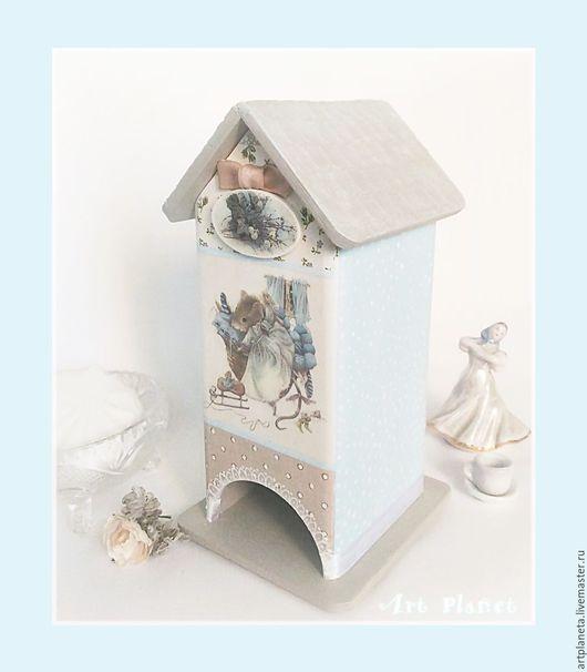 """Кухня ручной работы. Ярмарка Мастеров - ручная работа. Купить Чайный домик """"Мышка-домушка"""". Handmade. Декупаж, шебби стиль"""