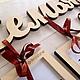 Интерьерные слова ручной работы. Слова из дерева с рамочками для фото. Decozone.Мастерская декора. Ярмарка Мастеров. Слова из дерева