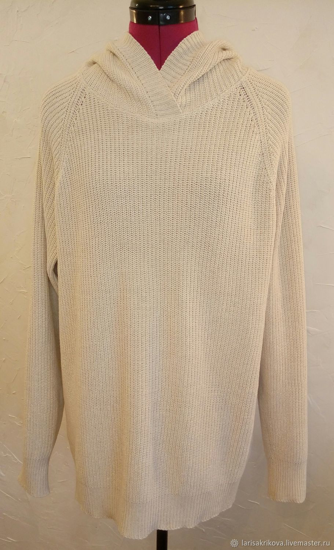 Hoodie-oversize knitted cotton, Jumpers, Verhnedneprovsky,  Фото №1
