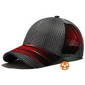 Аксессуары handmade. Livemaster - original item Summer baseball cap with Citron Gray-Red print. Handmade.
