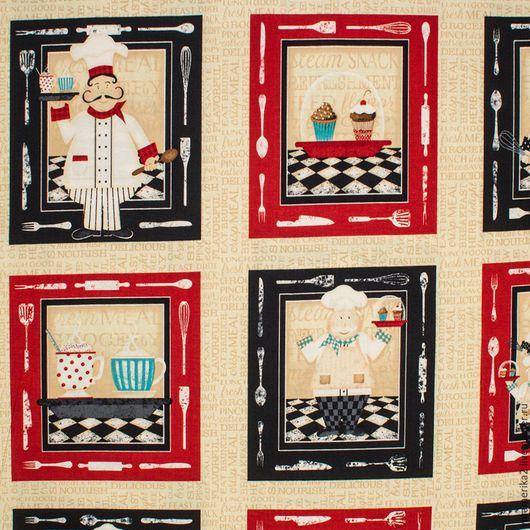 Шитье ручной работы. Ярмарка Мастеров - ручная работа. Купить Американский хлопок  ПОВАР - панель  ланчмат, салфетка.. Handmade.