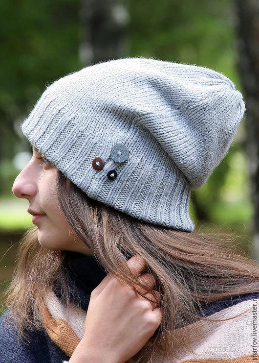 Шапка, шапки, шапочка, шапка-чулок, шапка чулок, шапка носок, шапка-носок, шапка бини, бини, вязаная шапка женская, женские шапки вязанные, шапочка для девочки, зимние шапки серый.