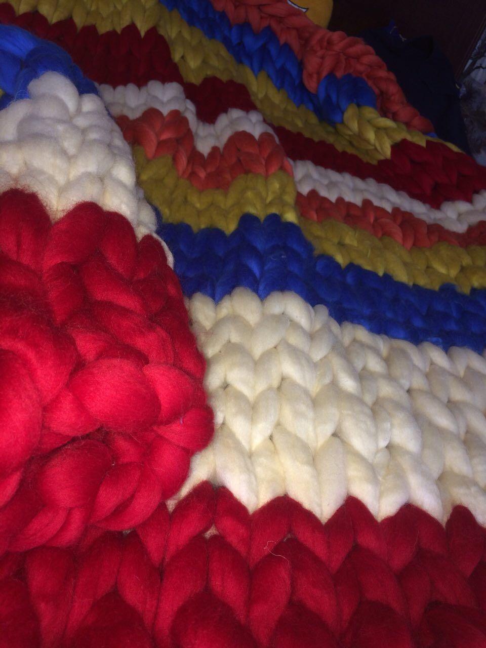 Плед крупной вязки – купить в интернет-магазине на Ярмарке ...