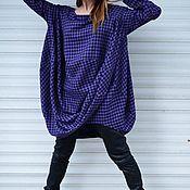 Одежда handmade. Livemaster - original item Asymmetric Purple Wool Long Sleeve Top-TU0550CT. Handmade.