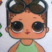 Куклы и пупсы ручной работы. Ярмарка Мастеров - ручная работа Куколка ЛОЛ с одеждой из фетра. Handmade.