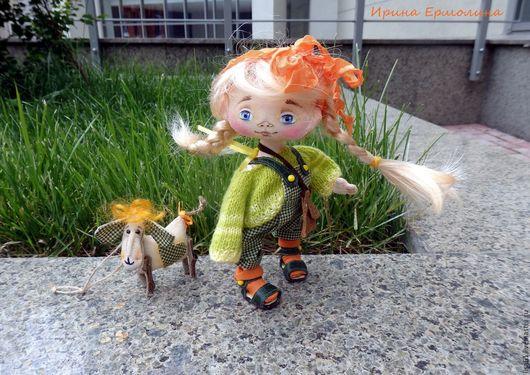 Мамино Солнышко - кукла ручной работы, интерьерная, текстильная. Купить. Ярмарка мастеров. Салатовый.