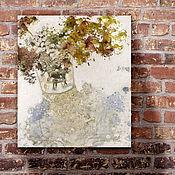 handmade. Livemaster - original item The picture of the Bouquet (white, Burgundy, olive, blue, loft). Handmade.
