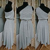 Одежда ручной работы. Ярмарка Мастеров - ручная работа Платье на одно плечо. Handmade.