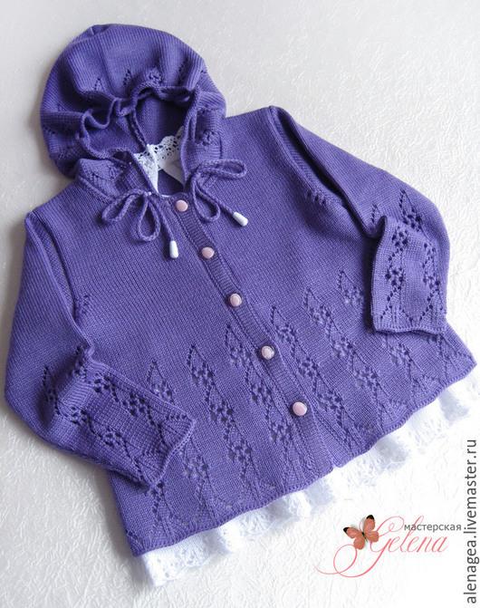 """Одежда для девочек, ручной работы. Ярмарка Мастеров - ручная работа. Купить Комплект """"Viola - 2"""" (кофта, штанишки, шапочка). Handmade."""