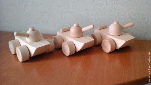 Техника ручной работы. Ярмарка Мастеров - ручная работа. Купить Танк - деревянная игрушка ( заготовка из липы). Handmade. Белый