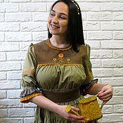 Одежда ручной работы. Ярмарка Мастеров - ручная работа Платье из хлопка с вышивкой. Handmade.