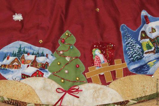 """Новый год 2017 ручной работы. Ярмарка Мастеров - ручная работа. Купить Юбка/коврик под ёлку """"Рождественская сказка"""" № 384. Handmade."""