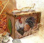 """Для дома и интерьера ручной работы. Ярмарка Мастеров - ручная работа """"Шантеклер"""" подсвечник с тайником. Handmade."""