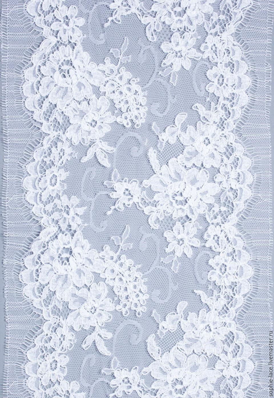 Шитье ручной работы. Ярмарка Мастеров - ручная работа. Купить Тонкое кружево на сетке Blossom Blanc от Sophie Hallette. Handmade.