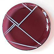 Plates handmade. Livemaster - original item Plate Vanguard. Glass Fusing. Handmade.