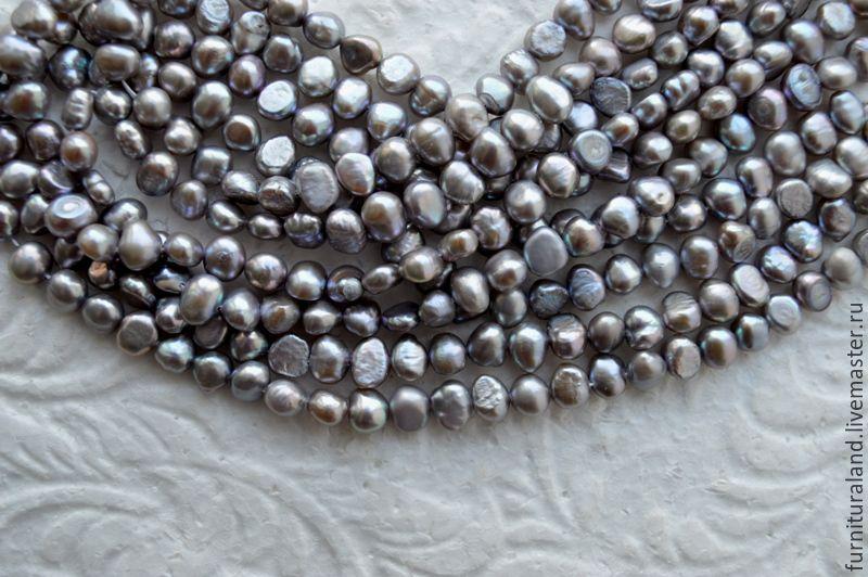 Барочный жемчуг серого цвета, Для украшений, Коломна, Фото №1