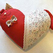 Куклы и игрушки ручной работы. Ярмарка Мастеров - ручная работа Кот-сердце Hello. Handmade.