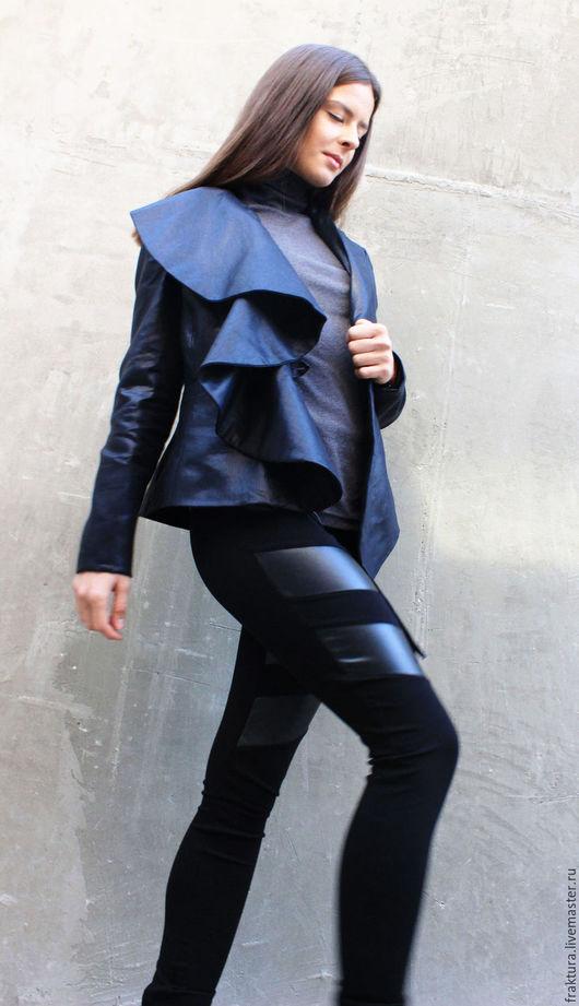 """Пиджаки, жакеты ручной работы. Ярмарка Мастеров - ручная работа. Купить Пиджак """"Asymmetric"""" C0006. Handmade. Черный, пиджак черный"""