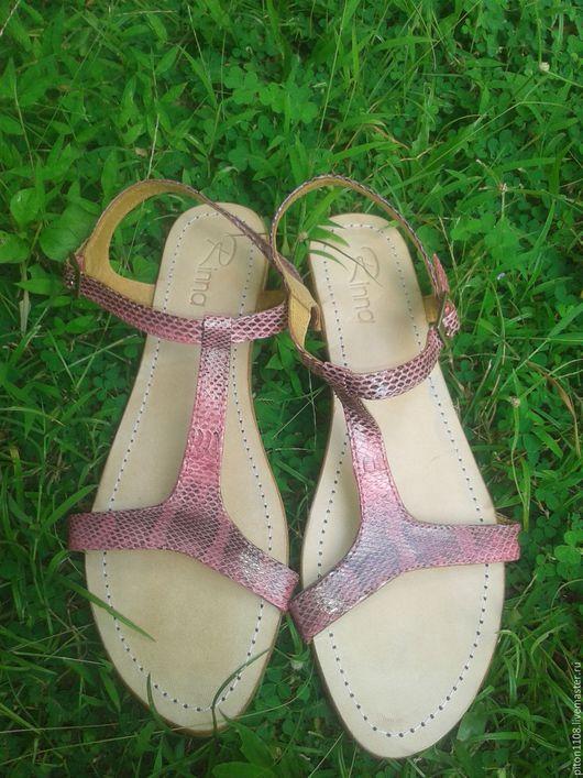 Обувь ручной работы. Ярмарка Мастеров - ручная работа. Купить Сандалии из кожи кобры. Handmade. Сандалии, сандалии ручной работы