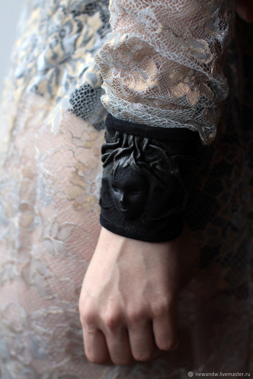 """3D Браслет из замши """"Девушка с длинными волосами"""" – купить на Ярмарке Мастеров – K45OQRU   Браслет-манжета, Москва"""
