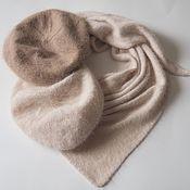 Аксессуары handmade. Livemaster - original item scarves: Knitted scarf made of mink / angora cream scarf fluffy. Handmade.