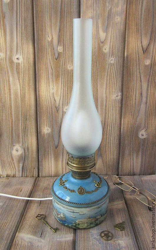 """Освещение ручной работы. Ярмарка Мастеров - ручная работа. Купить Электрический светильник лампа """"Морская"""". Handmade. Лампа, морская тема"""
